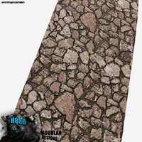 free blend mode tiling flagstone path