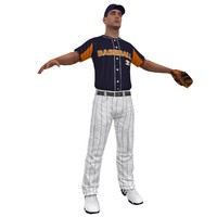 3d baseball player