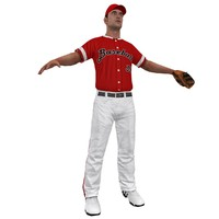 baseball player 3d model