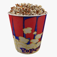 3d popcorn bucket 3 7l