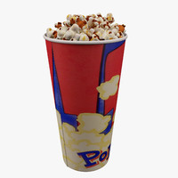popcorn bucket 0 7l 3d obj