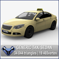 3d generic taxi sedan majestic model