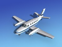 3ds max propellers cessna 441 conquest