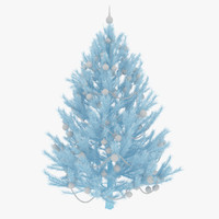 3dsmax decorated christmas tree spruce