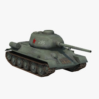 3d t-34 85 red army model