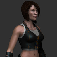 female soldier 3d 3ds