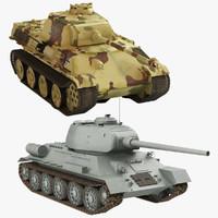 3d model t-34 85 v panther