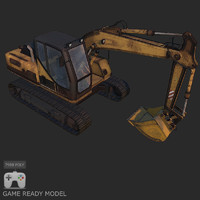 Low poly digger