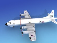 3d model orion lockheed p-3 navy
