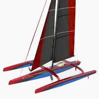 ultim class trimaran 3d model