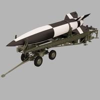 3dsmax ballistic missile v-2 launcher