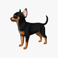 3d model chihuahua edge loop
