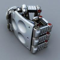 3d model of robot hand