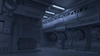 generic sci fi interior 3d fbx