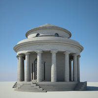 3d classical rotunda model