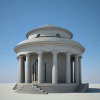 classical rotunda 3d model
