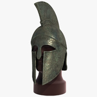 3d spartan helmet model
