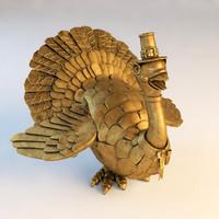 mechanical turkey statuette 3d max
