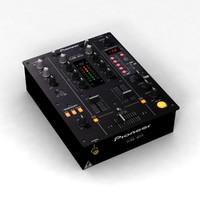 pioneer djm-400 mixer 3d model
