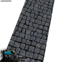 blender tiling paved stone path