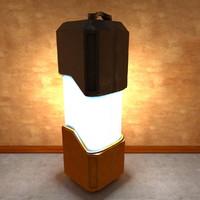 free sci-fi lamp 3d model