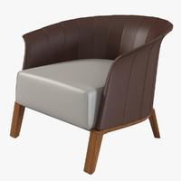 3d model giorgetti aura armchair