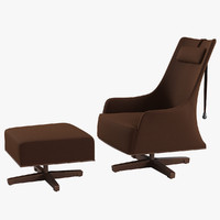3d giorgetti mobius swivel wing model