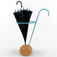 3d umbrella stand eva schildt