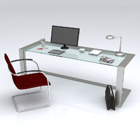 3ds max office desk deco
