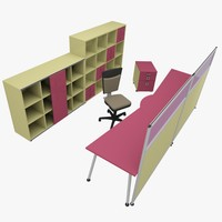 rack office table 3d max