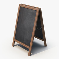 sandwich board 3d 3ds