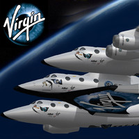3ds max space shuttle virgin galactic