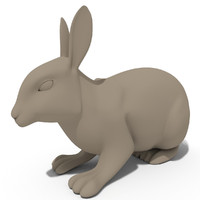 rabbit statuette 3d model