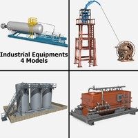 3ds max industrial equipments