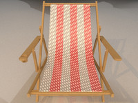 3d obj beach chair