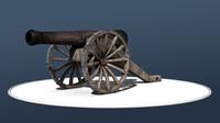 cannon 3d model
