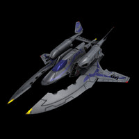 3d obj space fighter