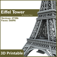 3d printable eiffel tower -