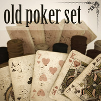 3d model of old timey poker set