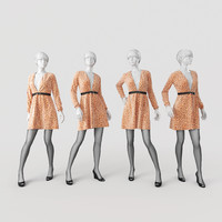 obj mannequin dress