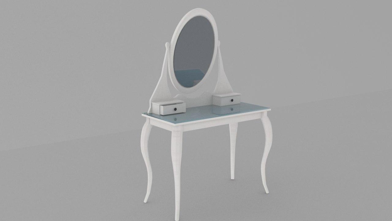 Max ikea hemnes dressing table for Dressing ikea 3d