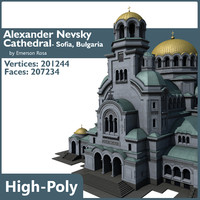 3d model alexander nevsky cathedral sofia