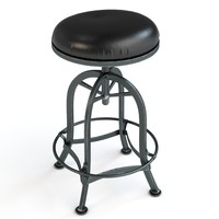 3d bar stool adjustable model