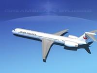 3d mcdonnell douglas airliners model