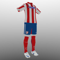 3ds soccer kit clothes atletico