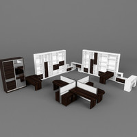 maya office furniture set