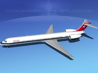 3d mcdonnell douglas md-80 swissair model
