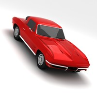 3d model chevrolet corvette stingray 1968