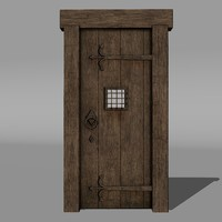Medieval Door, Medium Poly