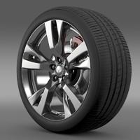 infiniti m wheel 3d max